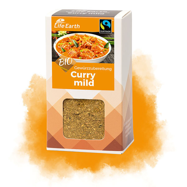 Life Earth Curry mild - Fairtrade Bio Gewürzmischung 30 g