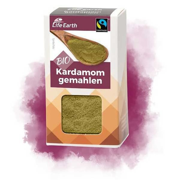 Life Earth Fairtrade Bio Kardamom gemahlen  25 g