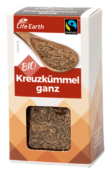 Life Earth Fairtrade Bio Kreuzkümmel ganz 35 g