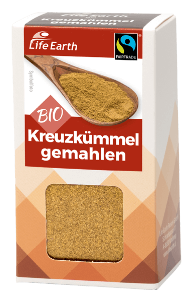 Life Earth Fairtrade Bio Kreuzkümmel gemahlen 35 g