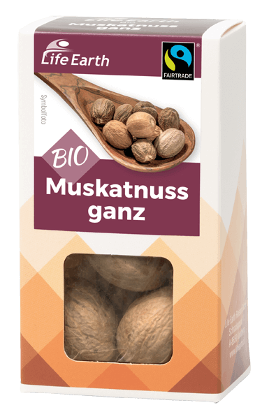 Life Earth Fairtrade Bio Muskatnuss ganz 20 g