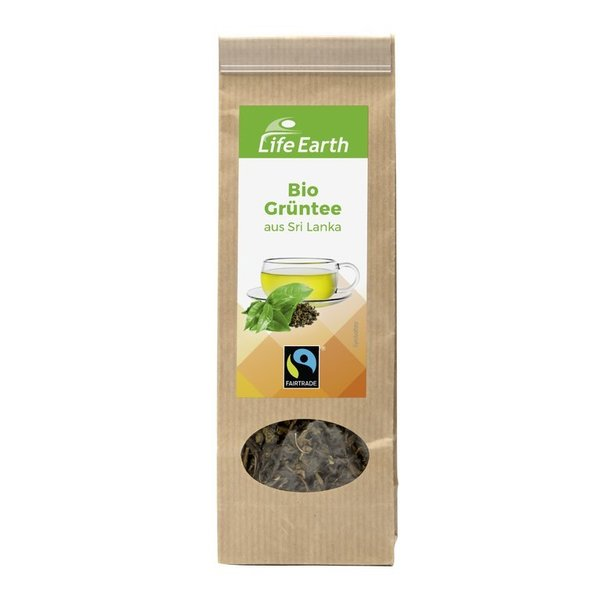Life Earth Fairtrade Bio Grüntee 50 g